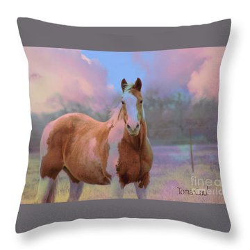Painted Naturally Throw Pillow