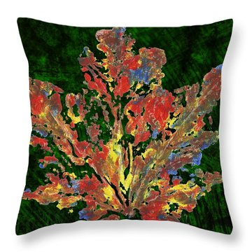 Throw Pillow featuring the painting Painted Nature 1 by Sami Tiainen