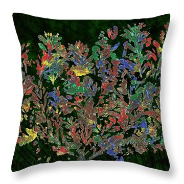 Throw Pillow featuring the painting Painted Nature 2 by Sami Tiainen