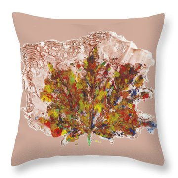 Throw Pillow featuring the painting Painted Nature 3 by Sami Tiainen