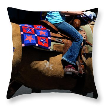 Throw Pillow featuring the photograph Painted Pony by Lorraine Devon Wilke