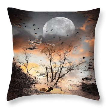 Painted Puddle Throw Pillow by Gray  Artus