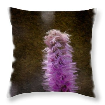 Painted Purple Flower Throw Pillow