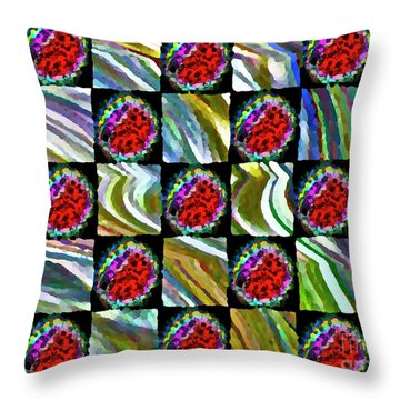 Painted Quilt Throw Pillow by Gwyn Newcombe