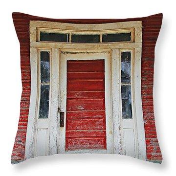 Painted Red Throw Pillow by Lynn Jordan