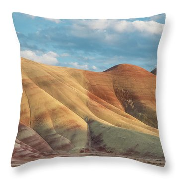 Throw Pillow featuring the photograph Painted Ridge And Sky by Greg Nyquist