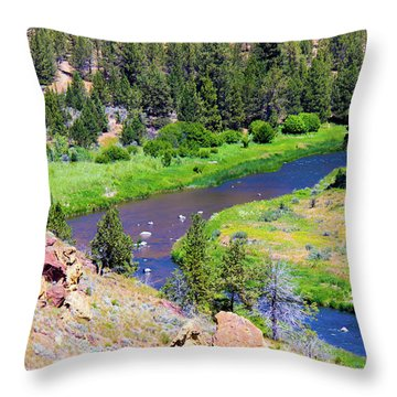 Throw Pillow featuring the photograph Painted River by Jonny D