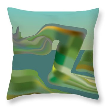 Painted Riverland Throw Pillow by Kevin McLaughlin