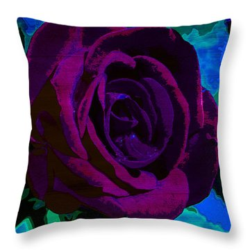 Painted Rose Throw Pillow by Samantha Thome