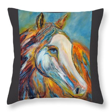 Painted Horse Sensation Throw Pillow