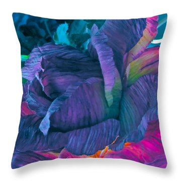 Painted Silk Throw Pillow by Gwyn Newcombe