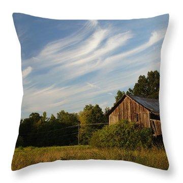 Painted Sky Barn Throw Pillow