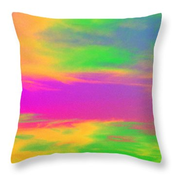 Throw Pillow featuring the photograph Painted Sky by Linda Hollis