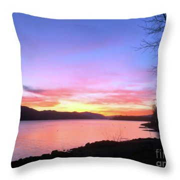 Painted Sky Throw Pillow by Victor K