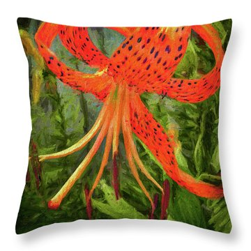 Painted Tiger Throw Pillow