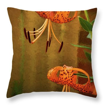 Painted Tigers Throw Pillow