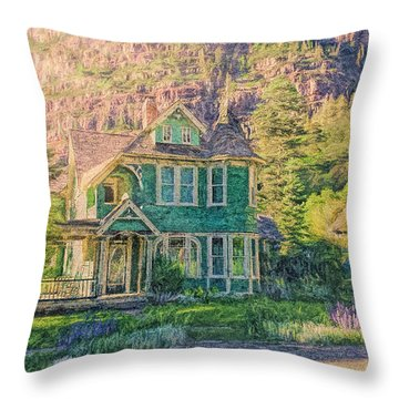 Painted Victorian Throw Pillow
