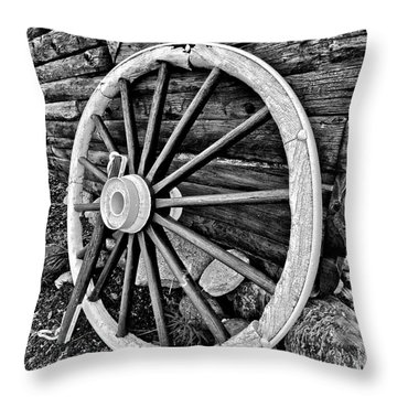 Painted Wagon Throw Pillow by Ed Boudreau