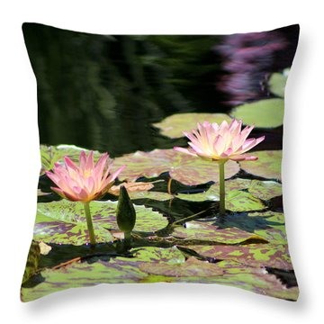 Painted Waters - Lilypond Throw Pillow