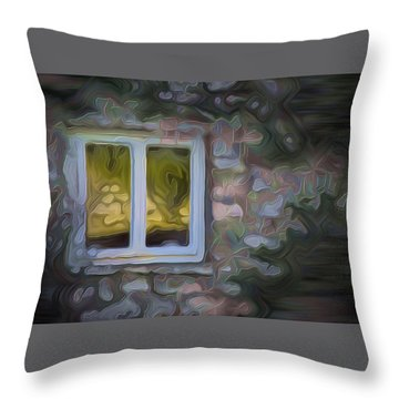 Painted Window Throw Pillow