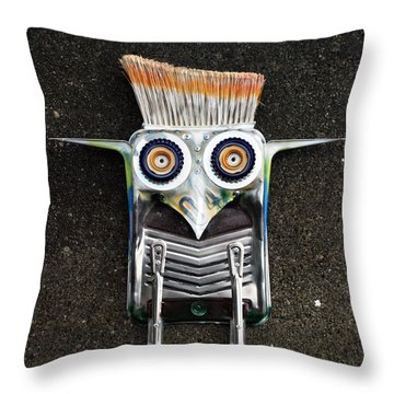 Painter Bird  Throw Pillow
