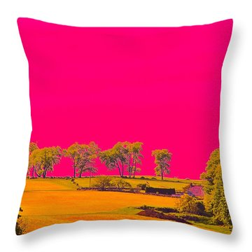 Painter Ridge Throw Pillow by Gillis Cone