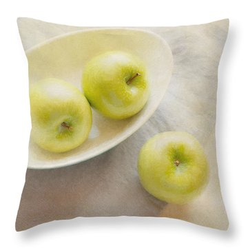 Painterly Apples Throw Pillow