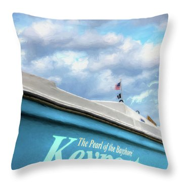 Throw Pillow featuring the photograph Painterly Keyport Sailboat by Gary Slawsky