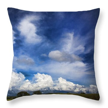 Painterly Sky Over Oklahoma Throw Pillow by Toni Hopper