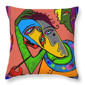 Painters Block Throw Pillow by Hans Magden