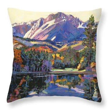 Painter's Lake Throw Pillow