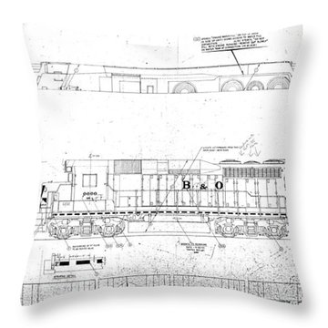 Painting And Lettering Diagramgp30 Throw Pillow