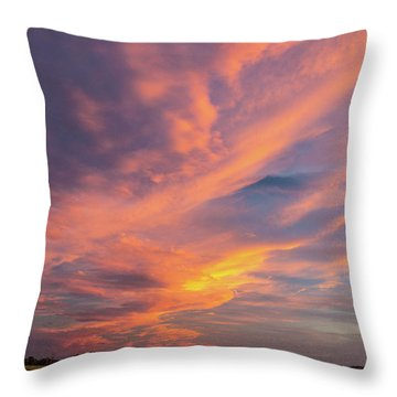 Painting By Sun Throw Pillow