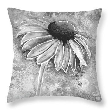 Throw Pillow featuring the painting Painting Cone Flower 8615e by Mas Art Studio