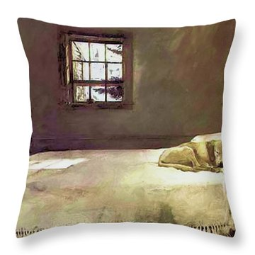 Painting Of The Print, Master Bedroom Throw Pillow