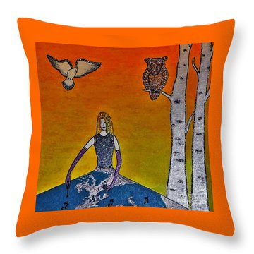 Painting On A Sunny Day Throw Pillow