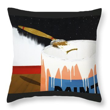Painting Out The Sky Throw Pillow by Thomas Blood