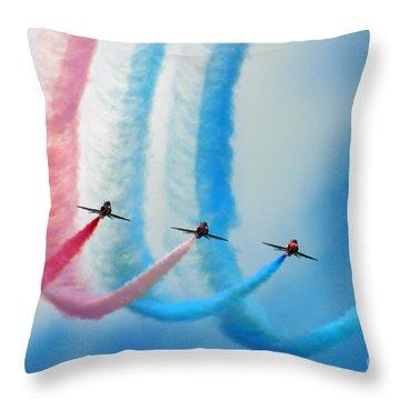 painting the Rainbow Throw Pillow by Angel  Tarantella