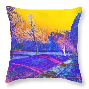 Painting With Shadows Throw Pillow