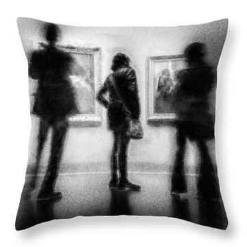 Paintings At An Exhibition Throw Pillow