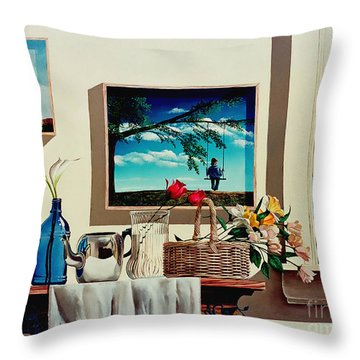 Paintings Within A Painting Throw Pillow