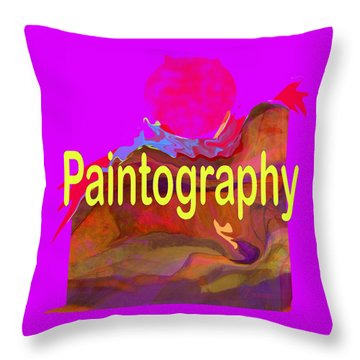 Paintography Throw Pillow