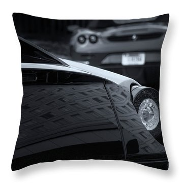 Throw Pillow featuring the photograph Pair Of Ferraris 2 by Dennis Hedberg