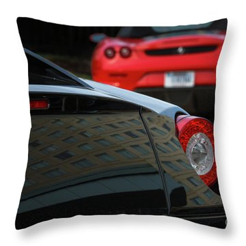 Throw Pillow featuring the photograph Pair Of Ferraris by Dennis Hedberg