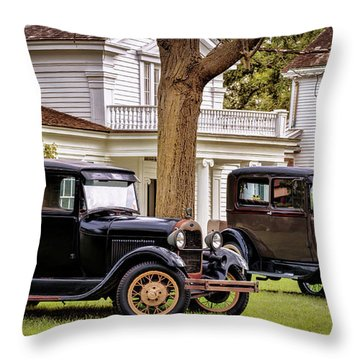 Pair Of Ford Model A  Throw Pillow