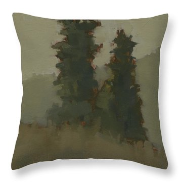 Pair Of Trees Throw Pillow