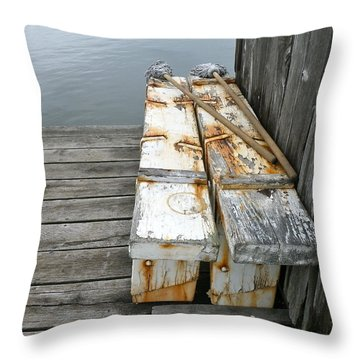 Paired Up Throw Pillow by Anna Ruzsan