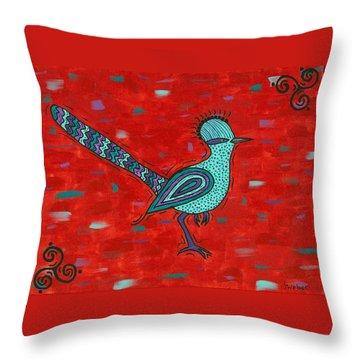 Paisano Petra - Roadrunner Throw Pillow