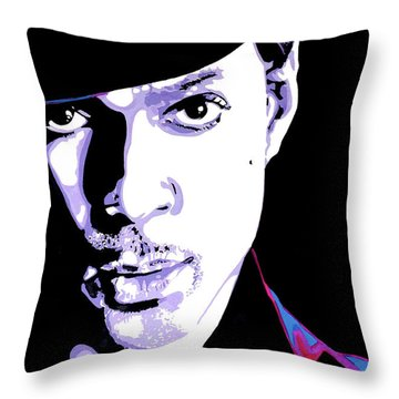 Paisley Park Throw Pillow