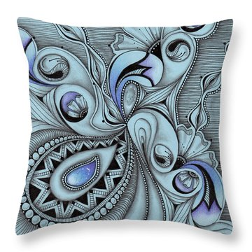 Paisley Power Throw Pillow